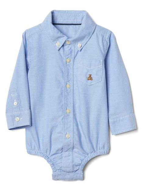Baby Oxford Button-Up Bodysuit