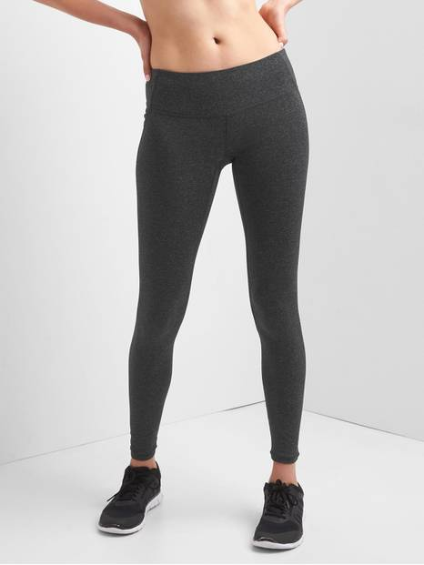 GapFit Low Rise Heathered Full Length Leggings