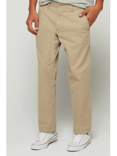 Lived-In Khakis in Straight Fit with GapFlex