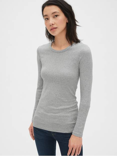 Modern Long Sleeve Crewneck T-Shirt