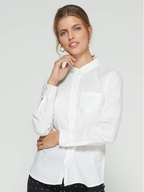 Fitted Boyfriend Shirt in Oxford