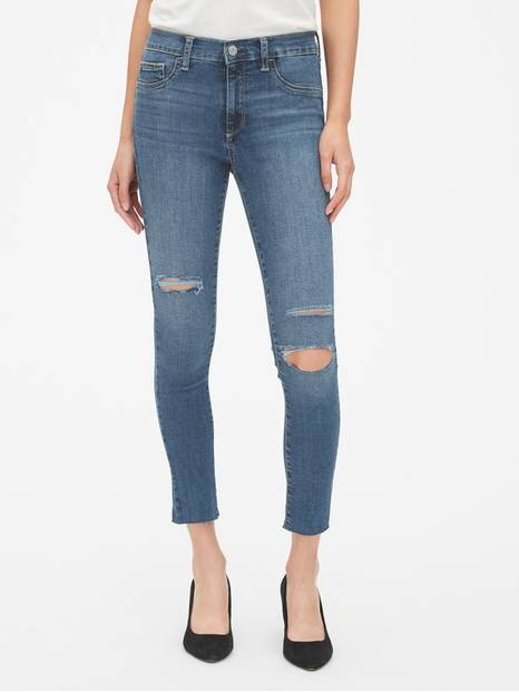 Mid Rise Favorite Jeggings in Distressed