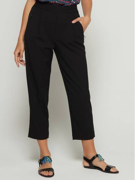 Pull-On Crop Trousers