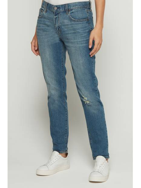 Mid Rise Girlfriend Jeans