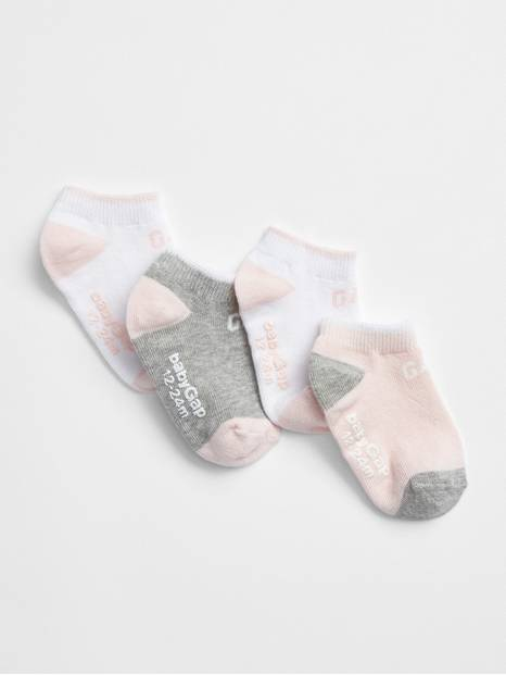 Toddler Gap Logo No-Show Socks (4-Pack)