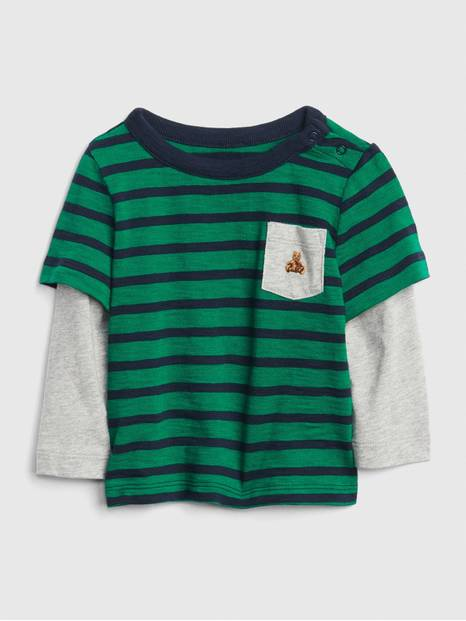 Baby 2-In-1 Stripe T-Shirt