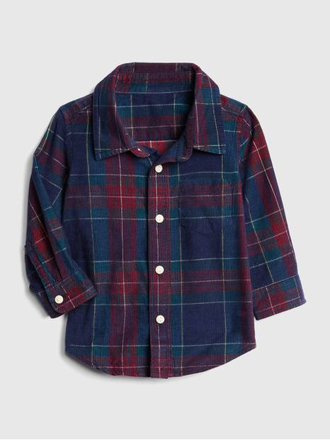 Plaid Cord Long Sleeve Shirt