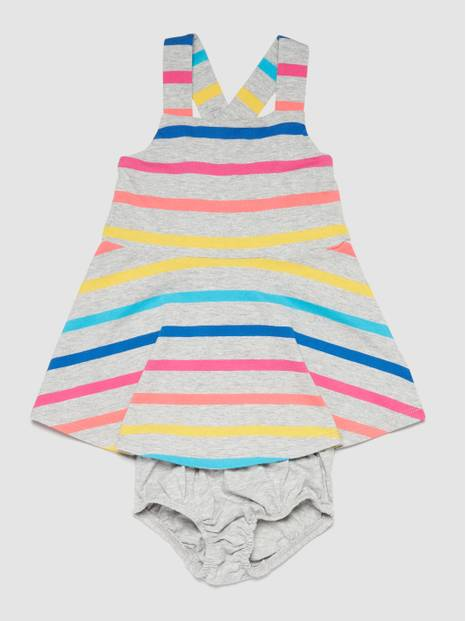 Stripe Crossback Dress