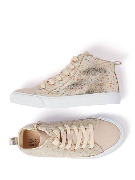 Kids Glitter Hi-Top Sneakers