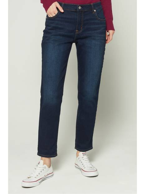 Mid Rise Soft Wear Girlfriend Jeans