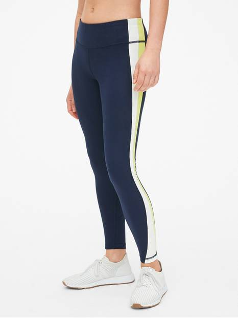 GapFit Blackout Colorblock Panel Full Length Leggings