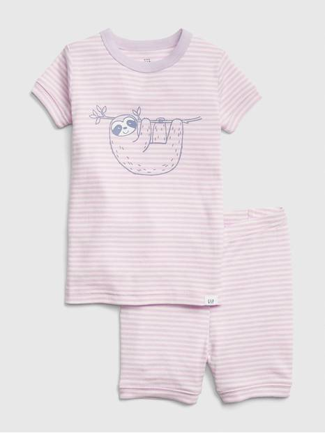 babyGap Graphic Stripe Short Pj Set