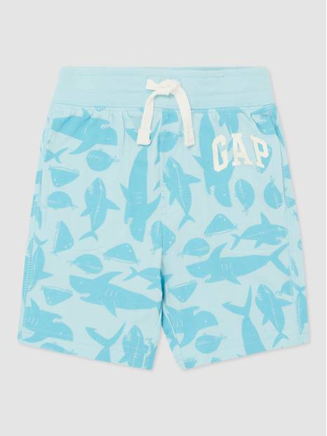All-Over Pattern Logo Shorts