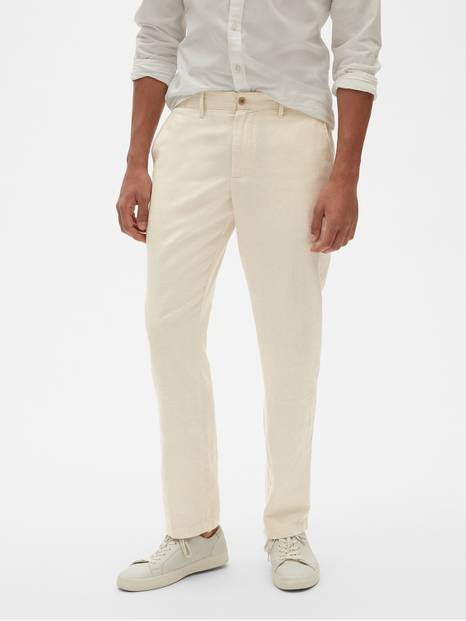 Linen Khakis in Slim Fit