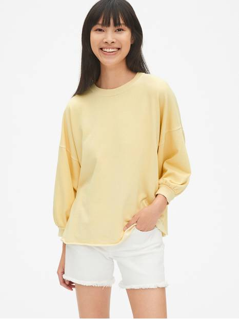 Vintage Soft Balloon Sleeve Pullover Sweatshirt
