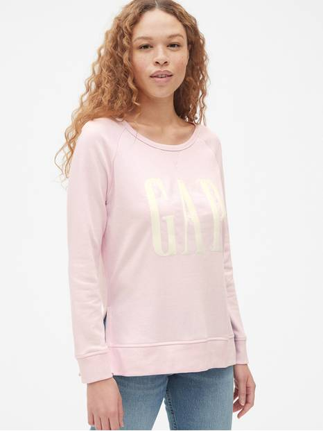Original Logo Embroidered Sweatshirt Tunic in French Terry
