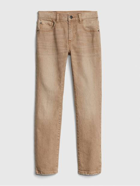 Kids Slim Khaki Jeans With Fantastiflex