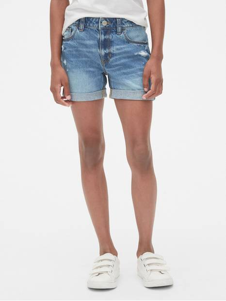 Kids Destructed Girlfriend Shorts