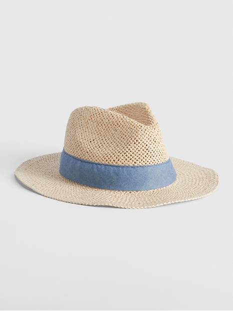 Kids Straw Fedora