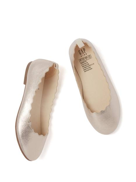 Kids Metallic Ballet Flats