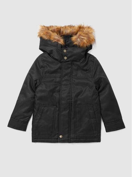 Kids Detachable Fur-Trim Hood Warmest Parka