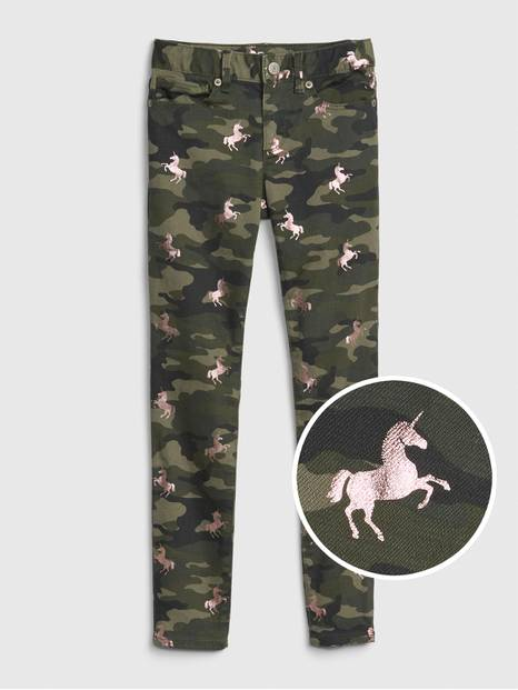 Camo Unicorn Super Skinny Jeans with Fantastiflex