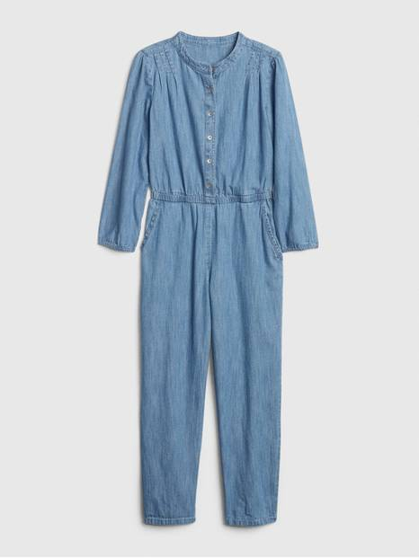 Kids Denim Jumpsuit