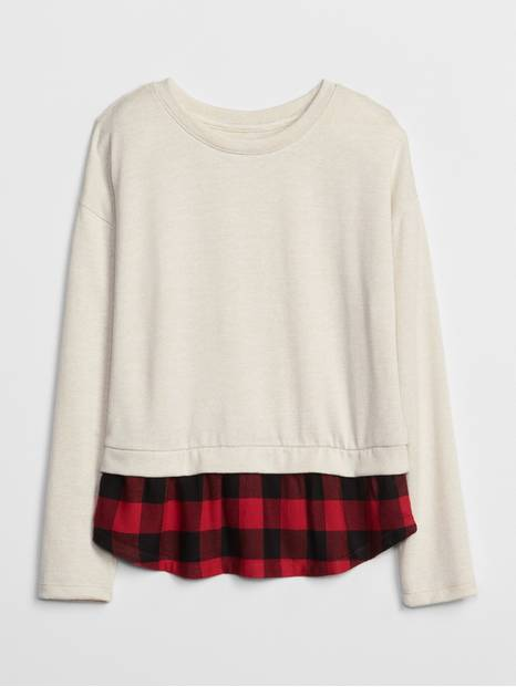 Kids Long Sleeve Layered Top