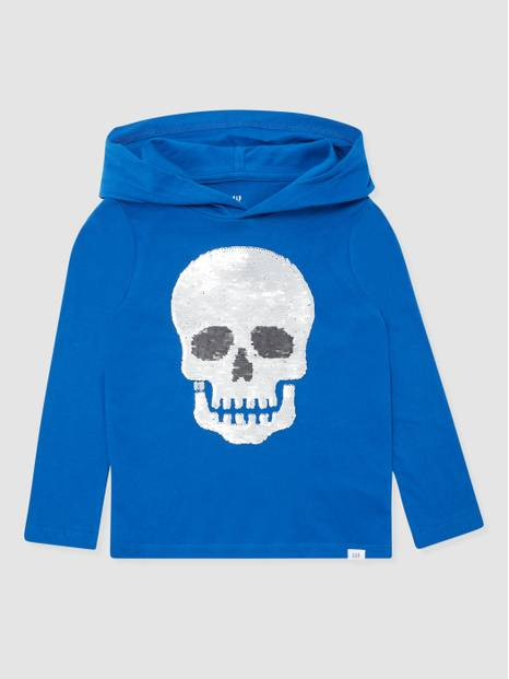 Kids Flippy Sequin Graphic Hoodie