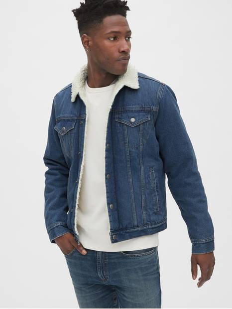 Sherpa-Lined Icon Denim Jacket