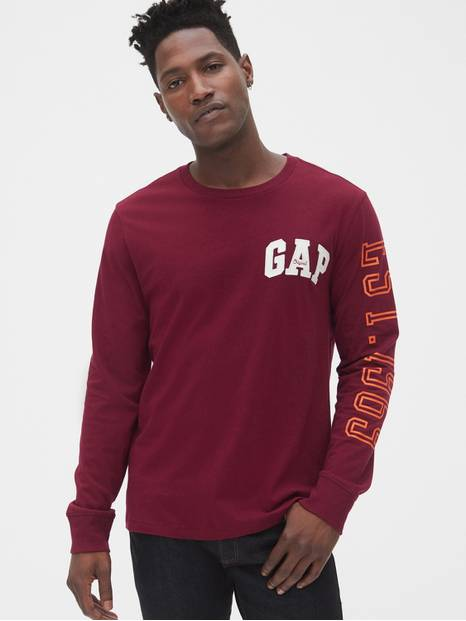 Gap Logo Long Sleeve Crewneck T-Shirt