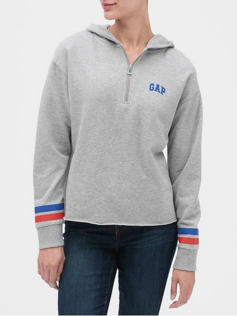Gap Logo Half-Zip Hoodie in French Terry