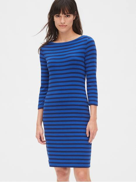 Modern Stripe Boatneck Dress