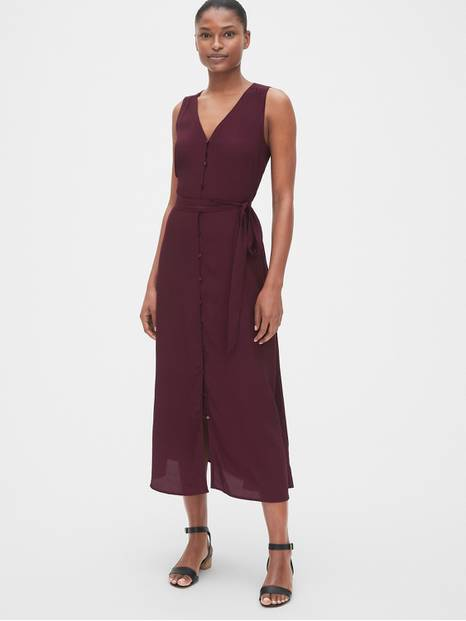 Sleeveless Maxi Shirtdress