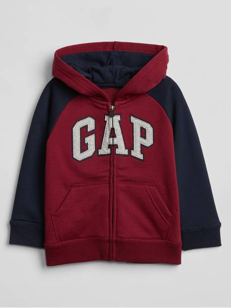 Toddler Colorblock Gap Logo Zip Hoodie