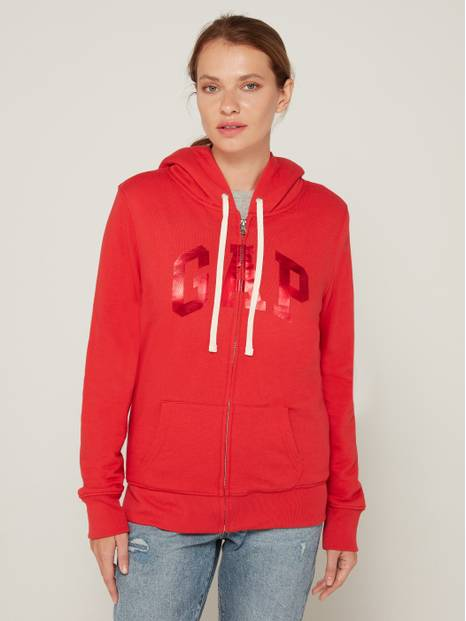 Gap Logo Sherpa Lined Hooded Sweatshirt