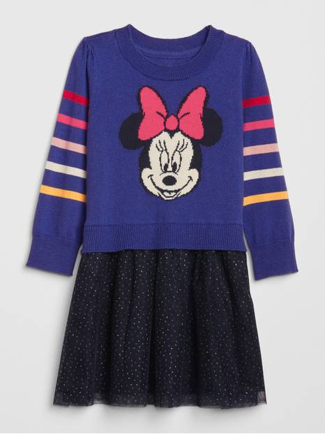 babyGap &#124 Disney Minnie Mouse Mix-Media Dress