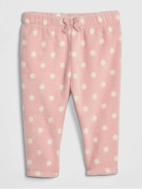 Baby Print Fleece Pull-On Pants