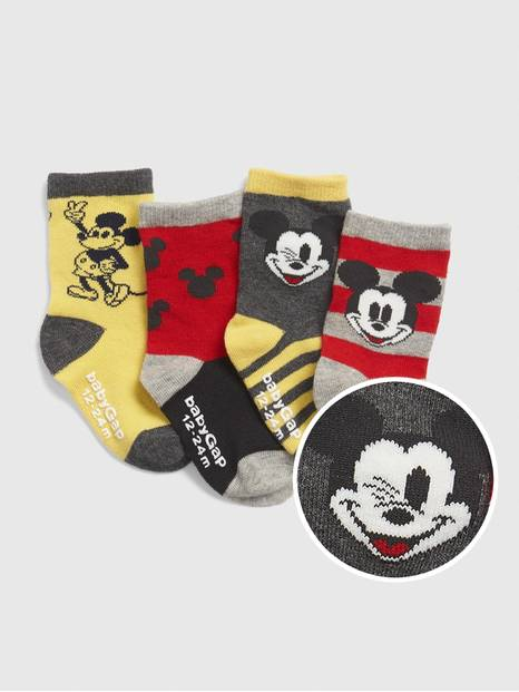 babyGap &#124 Disney Mickey Mouse Crew Socks (4-Pack)