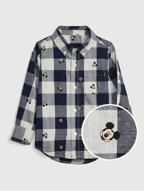 babyGap &#124 Disney Mickey Mouse Plaid Shirt
