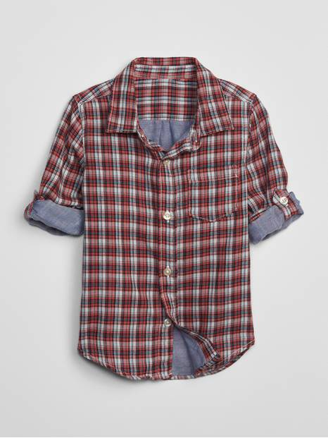 Toddler Double-Weave Convertible Shirt