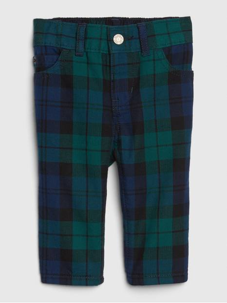 Baby Plaid 5-Pocket Pants