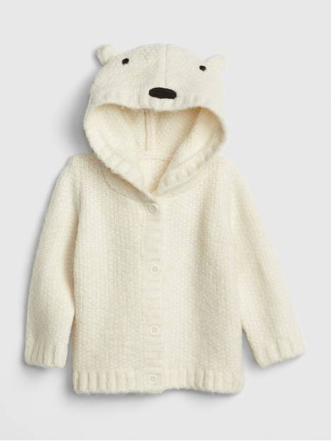 Baby Polar Bear Cardi Sweater
