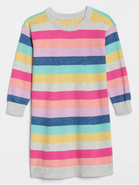 Toddler Crazy Stripe Sweater Dress