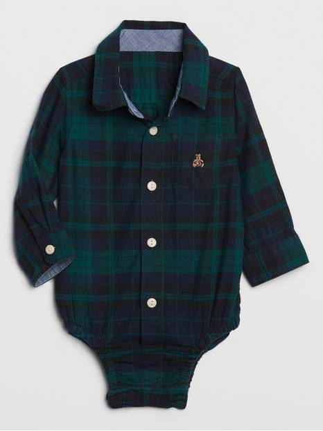 Baby Brannan Bear Plaid Bodysuit