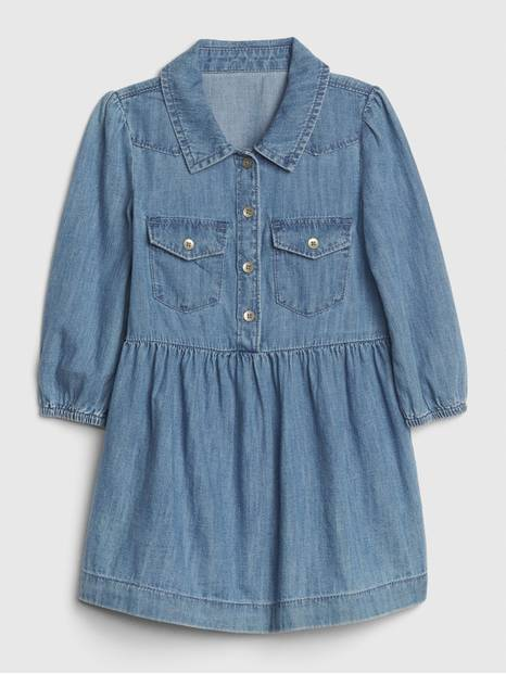 Toddler Denim Western Dress
