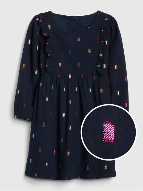 Toddler Metallic Dot Dress