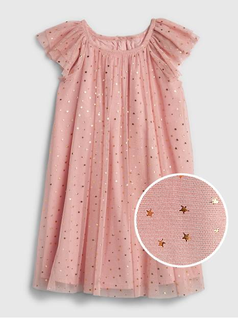 Toddler Tulle Star Flutter Dress