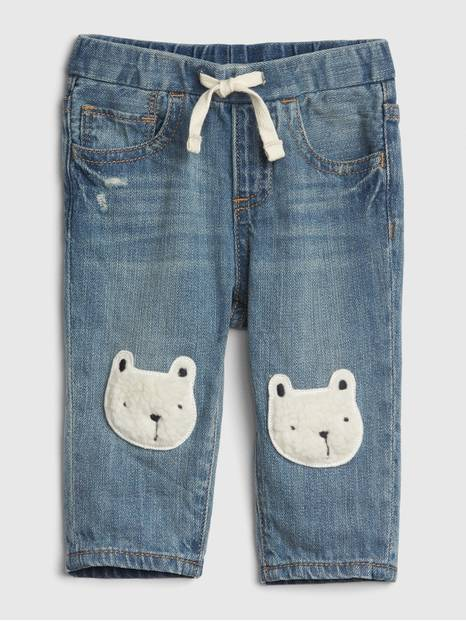 Baby Bear Patch Slim Jeans