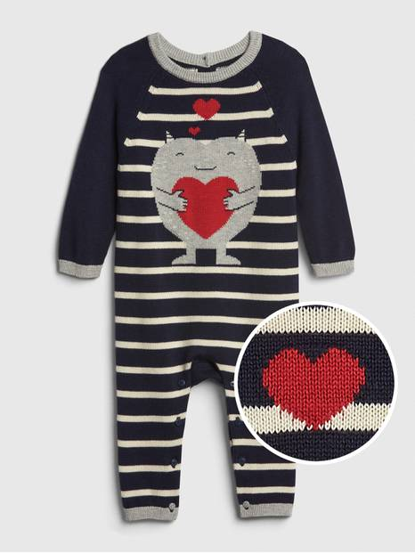 Baby Graphic Sweater One-Piece